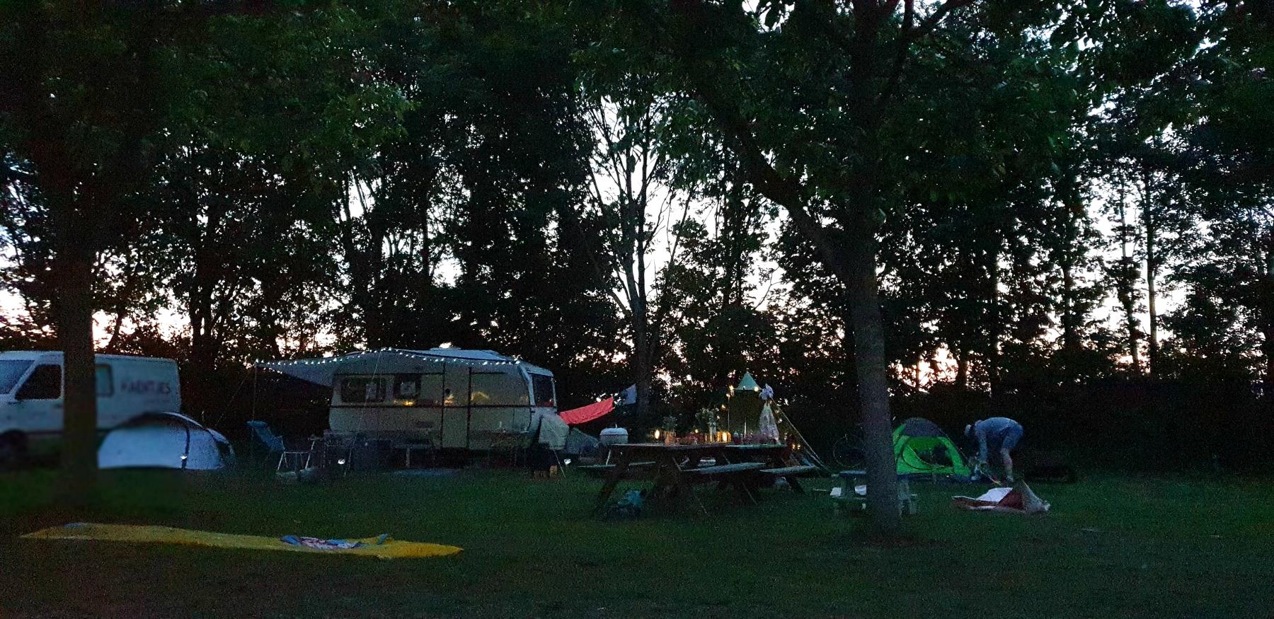 Knus op de camping