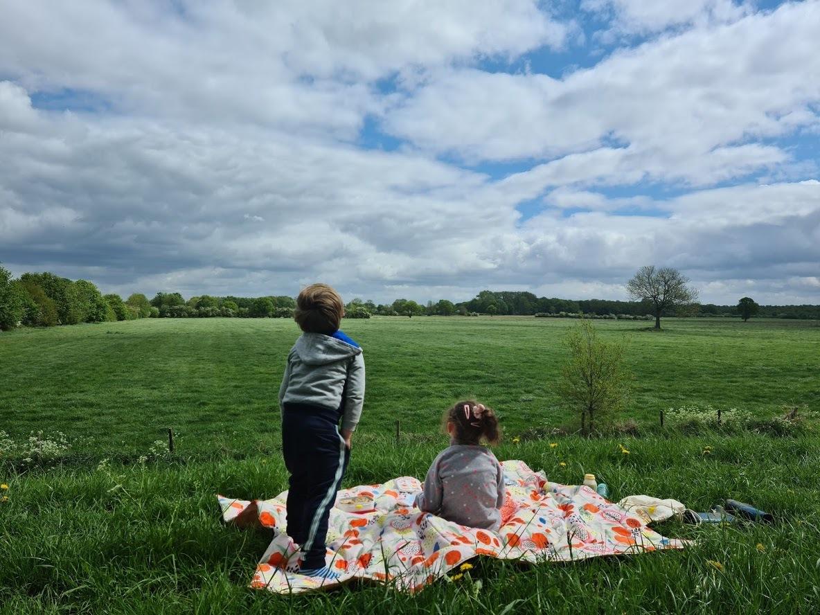 Picknicken op de dijk